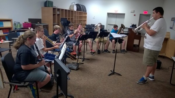Band Camp held this summer for JCHS and JCMS students.