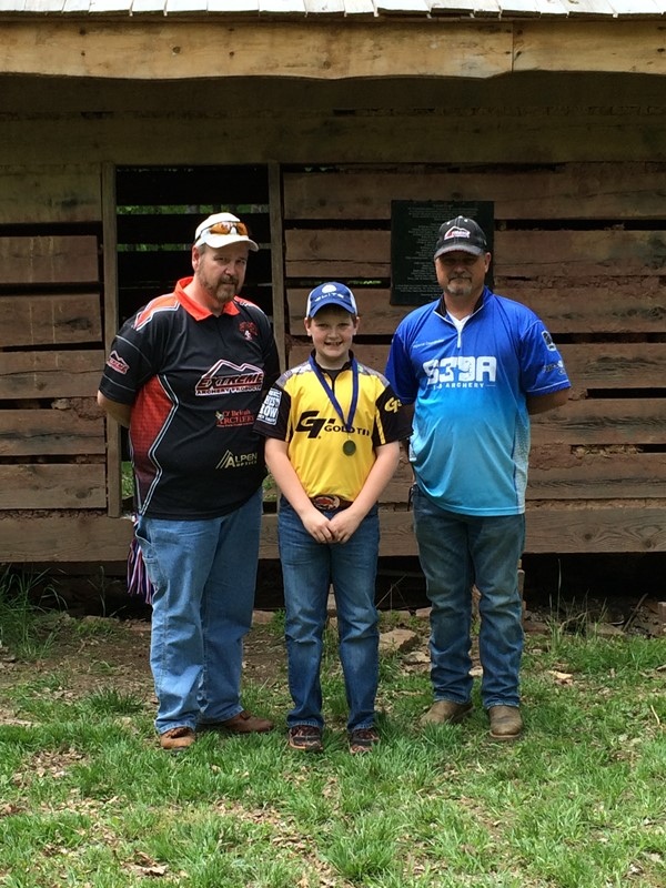 Chase Morris placed 1st in male elementary open at the S3DA Regional Tournament at Carter Caves State Park.