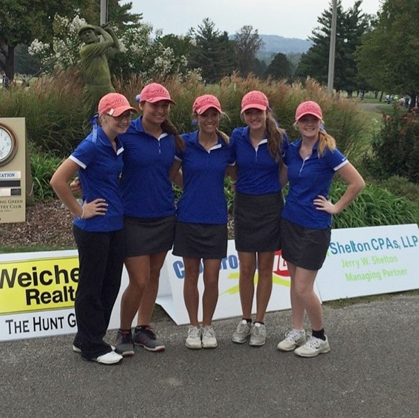 The JCHS Girl's Golf team finished 13th out of 24 teams at the Kentucky State High School Golf Tournament.  350 teams are eligible to participate in the Kentucky State High School Golf Tournament, if they advance.