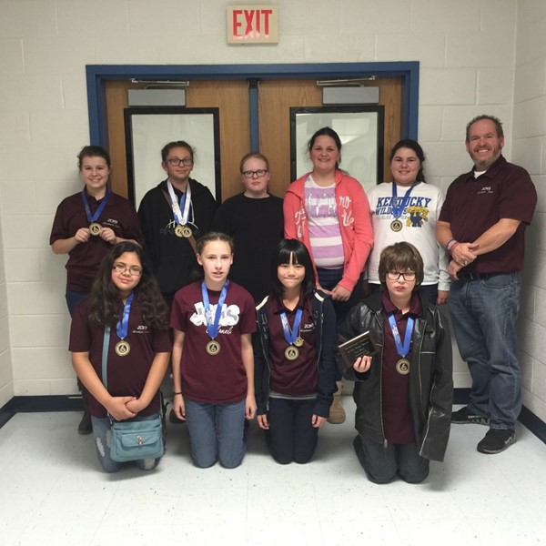 2015 Sixth-Grade Showcase was held on December 5, 2015 in Irvine, Kentucky.     Quick Recall Team – 1st Place; Morgan Bellamy – 1st Place – Social Studies; Trevor Allen – 5th Place – Social Studies; Eden Lakes – 3rd Place – Composition