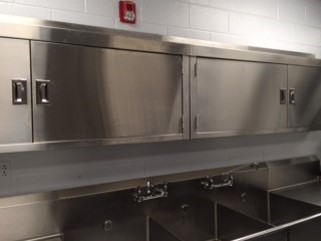The McKee Elementary School kitchen renovation was completed over Christmas break