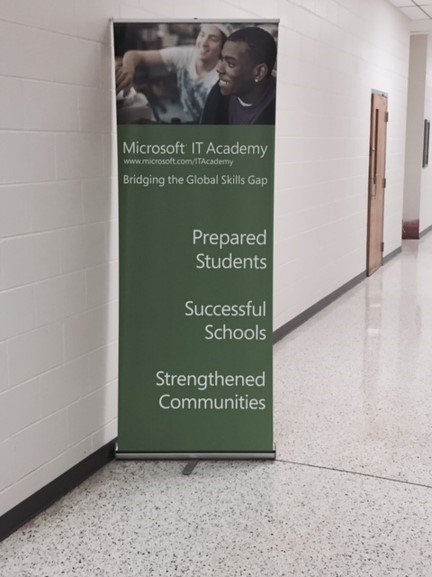 Microsoft IT Academy allows students to become certified in the core Microsoft programs.