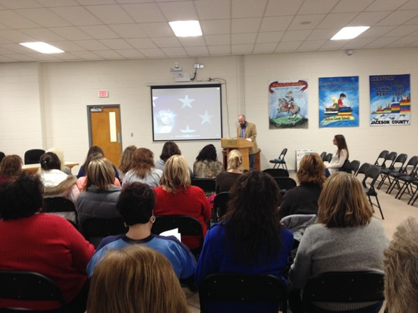 "On Friday, December 18th the Jackson County Community Early Childhood Council held their first screening of the documentary series ""Raising of America"" at the Jackson County Board of Education. There were 38 community representatives in attendance."