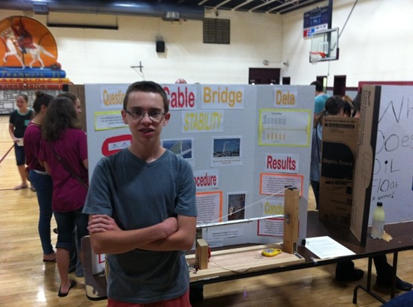 Matthew Thomas 1st Place in JCMS Science Fair