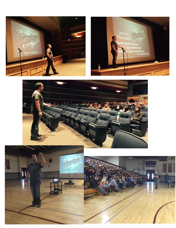 On Monday, March 21st, Scott Harvey visited JCHS and JCMS to share his I Am Someone presentation.  His presentation deals with cyberbullying and appropriate behavior online.  For more information, please visit ttp://www.speakingofharvey.com/