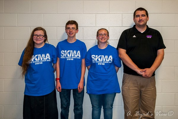The following Jackson County Middle School band students were selected by audition for the Southern Kentucky Music Association All-District Honors Concert Band…Matthew Thomas (trombone), Paige Conner (clarinet), and Bailey Byrd (clarinet).
