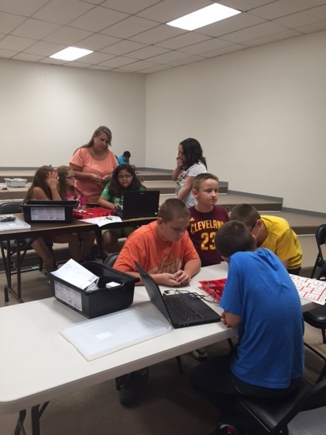 Jackson County Public Schools' Technology Department and JCPS Gifted Education Program in partnership with Promise Neighborhood offered a STEM Camp for students in grades 3-12 on July 6-9, 2015.