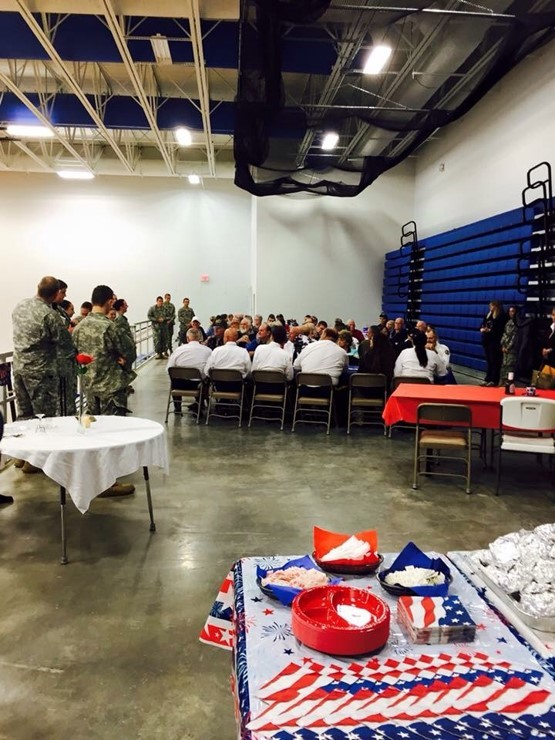 Lunch was provided for the Veterans by the JCHS Family and Consumer Science Class.