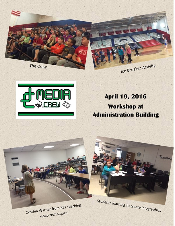 On Wednesday, April 19, 2016, Gifted and Talented Students in Grades 4 & 5 from all three elementary schools participated in a digital media workshop that was provided by Cynthia Warner, KET Education Consultant and JCPS Staff.