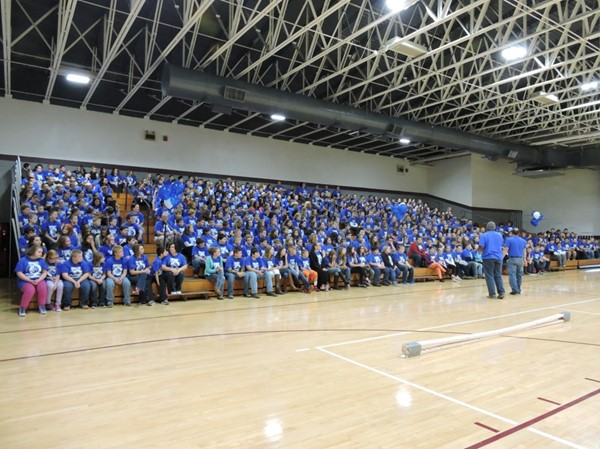 "October 19th – 23rd has been declared Safe Schools Week in the state of Kentucky.  All staff and students at the JCMS participated in a ""Big Blue Madness"" event where we make bullies blue by taking a stand against bullying."