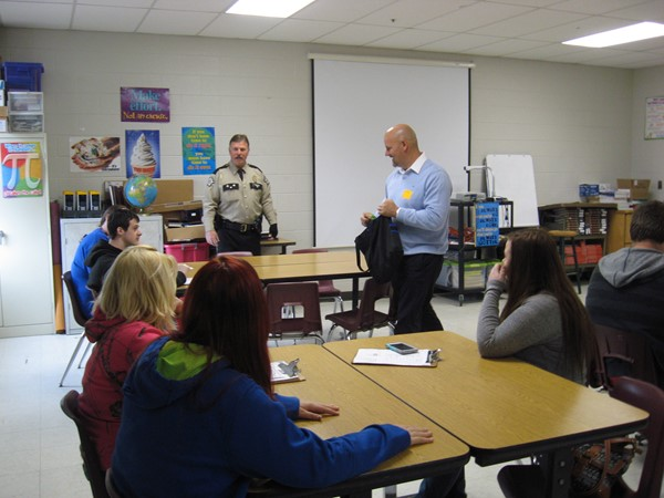 Sheriff Paul Hays and Judge Executive Shane Gabbard Career Day @ JCMS